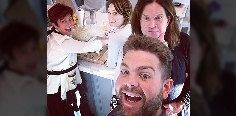Jack Osbourne and his family
